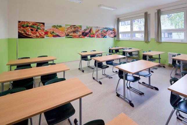 Nadstandardní vybavení školy i učeben.