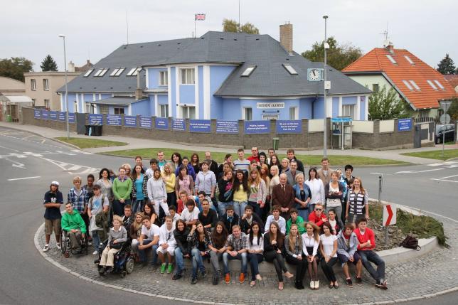 Studenti obchodní akademie Praha