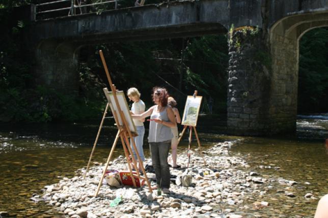 Na malovacím kurzu