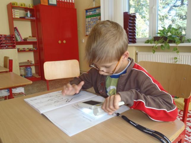 Škola je určena dětem s vadami zraku