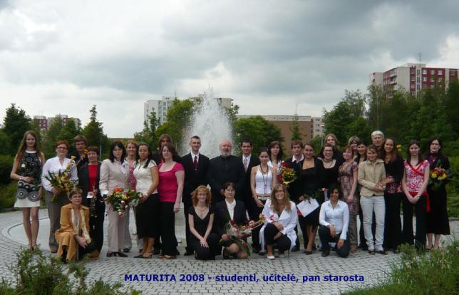 Maturanti školy 2008