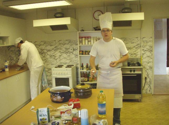 Cvičná kuchyně pro obor Kuchař-číšník